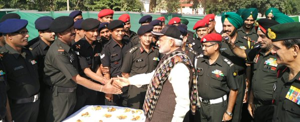 modi with soldiers