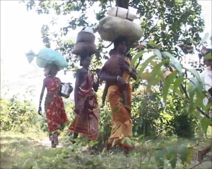 Malkangiri villagers leaving village
