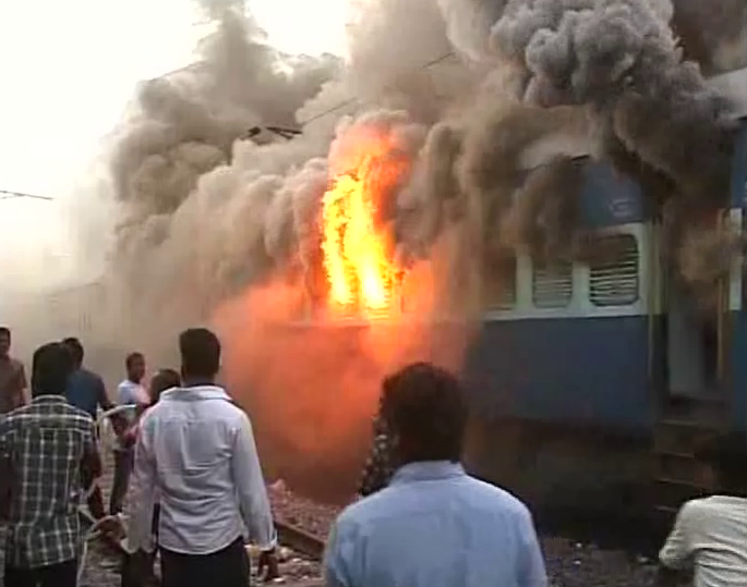 Puri Train Fire