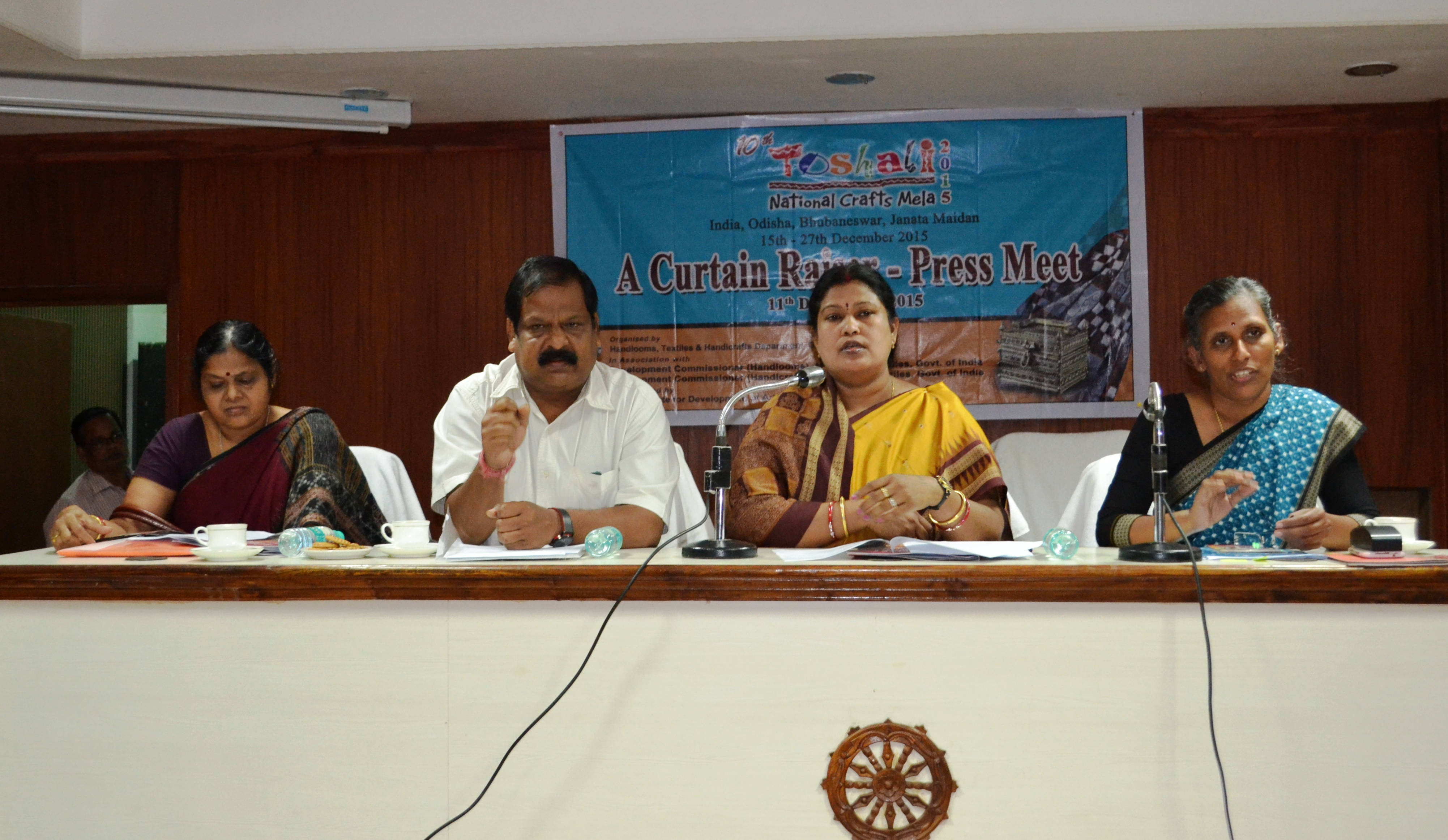 Press meet by Toshali National Crafts Mala 2015