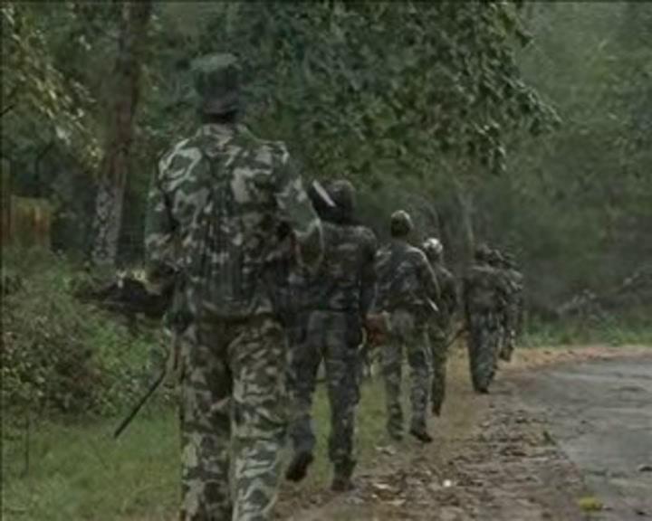 Angul CRPF combing Maoists