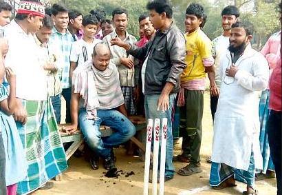 cricket shave head kendrapada