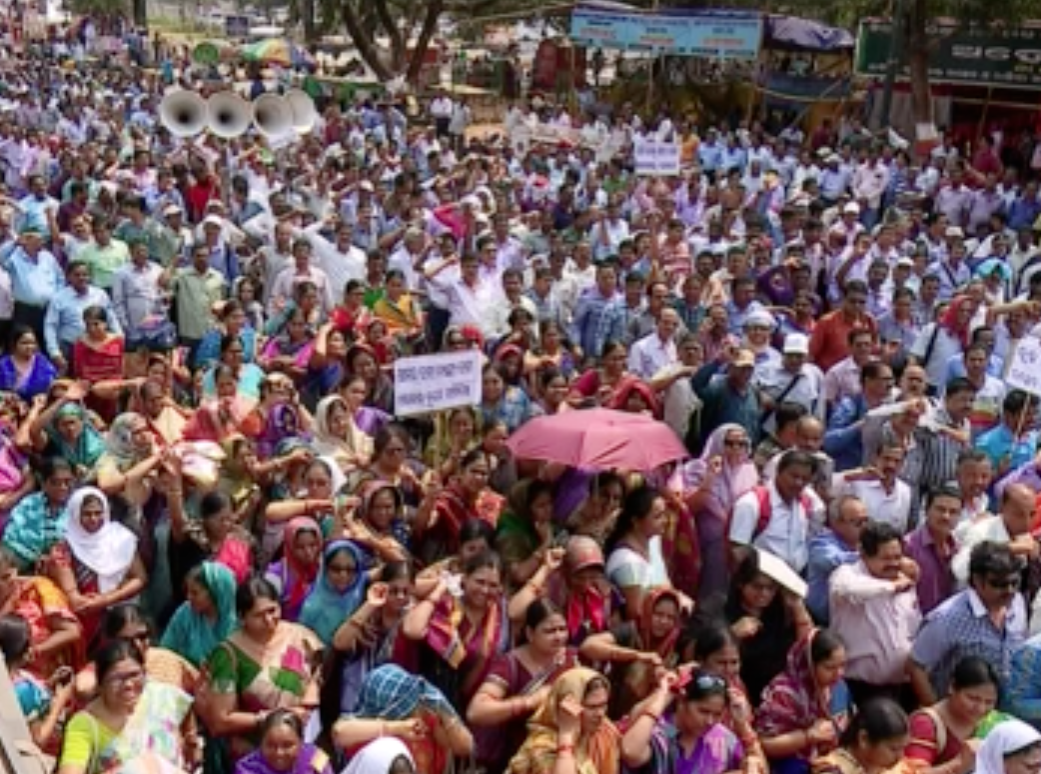 488-category block grant teachers' rally