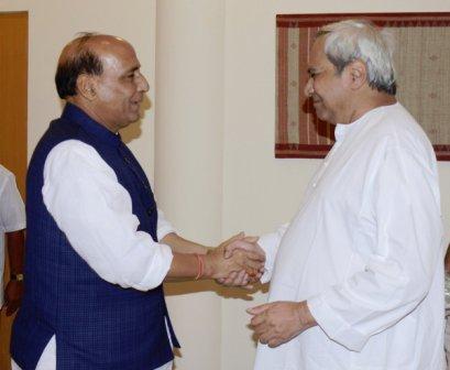 Naveen and Rajnath Singh