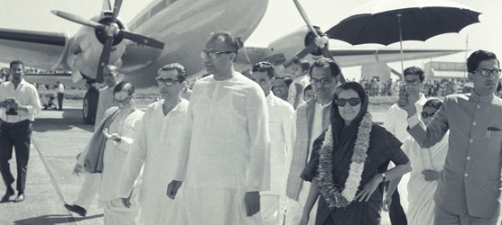 Pic: Image: Biju Patnaik during one of his adventurous expedition as an expert pilot