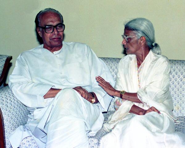 Pic: With former Odisha CM Nandini Satpathy