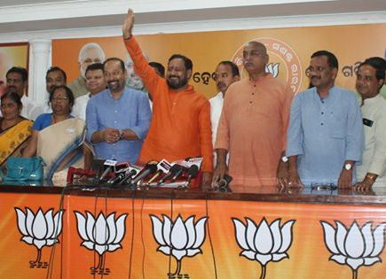 Basant Panda new team Odisha BJP office bearers