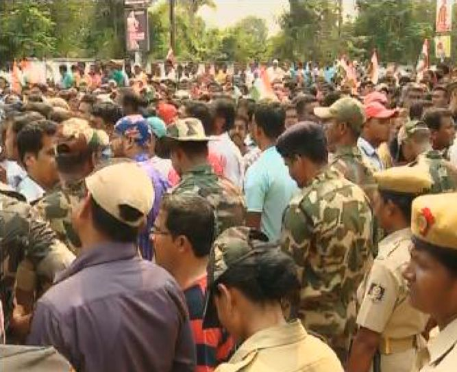 Berhampur congress rally