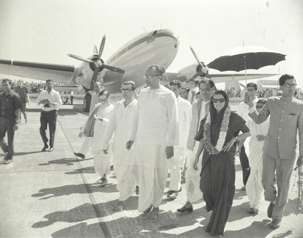 With former PM Indira Gandhi