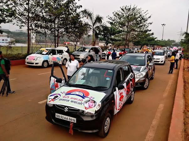 Pledge of Parity womens' car rally bhubaneswar
