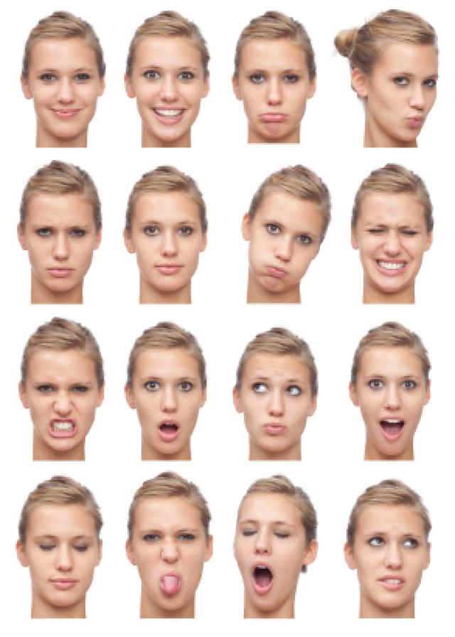 Facial description of people