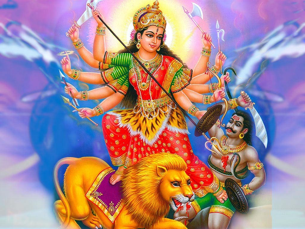 maa-durga-killing-to-mahishasur