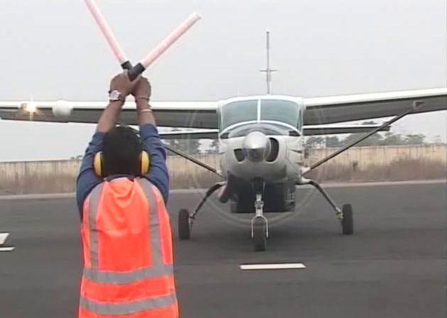 Air Odisha flight taking off