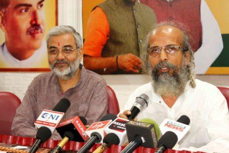 BJP-press-meet-Pratap Sarangi Sajjan Sharma