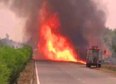 LPG tanker fire soro