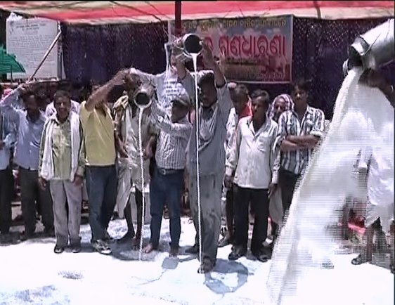 puri milk farmers protest