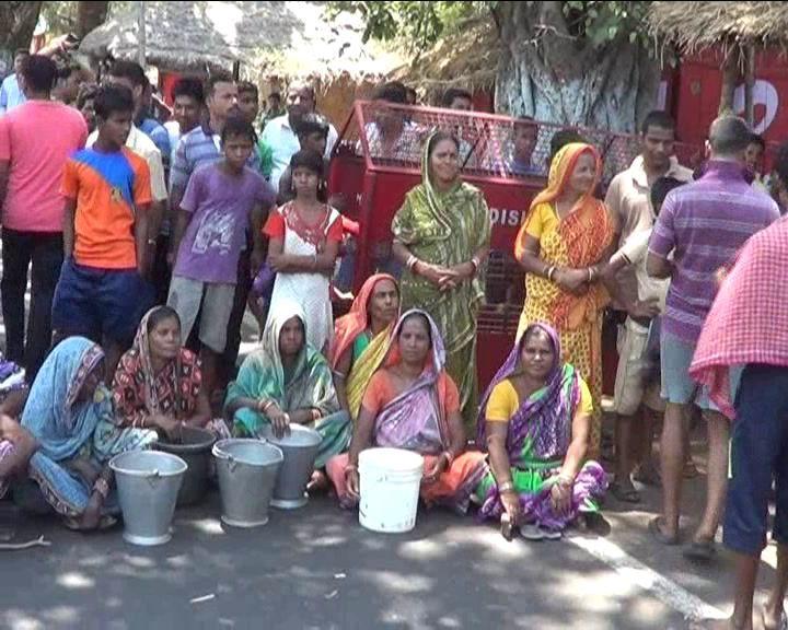 Road block water scarcity
