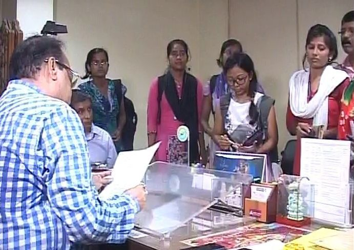 SCB nursing students cuttack collector
