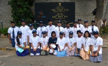 Students at ISRO Satellite Centre in Bnegaluru