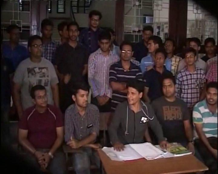 VIMSAR Burla Doctors strike protest agitation