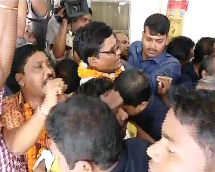 agitating MLAs taken from assembly