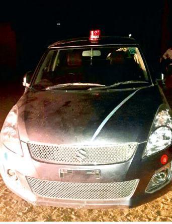 car with beacon
