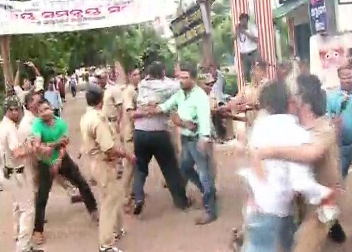Demonstration against Arun Sahoo Puri