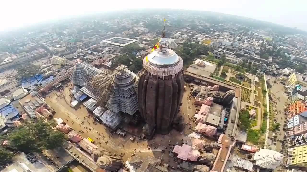 jagannath temple aerial view