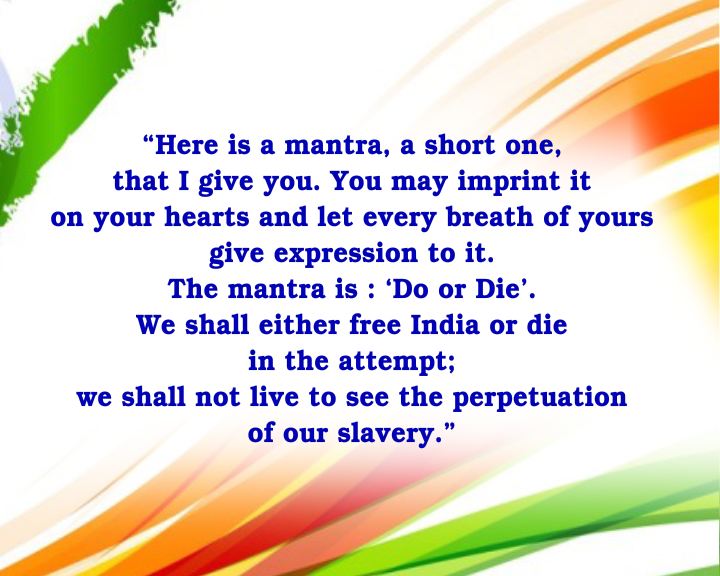 mahatma gandhi quit india speech pdf
