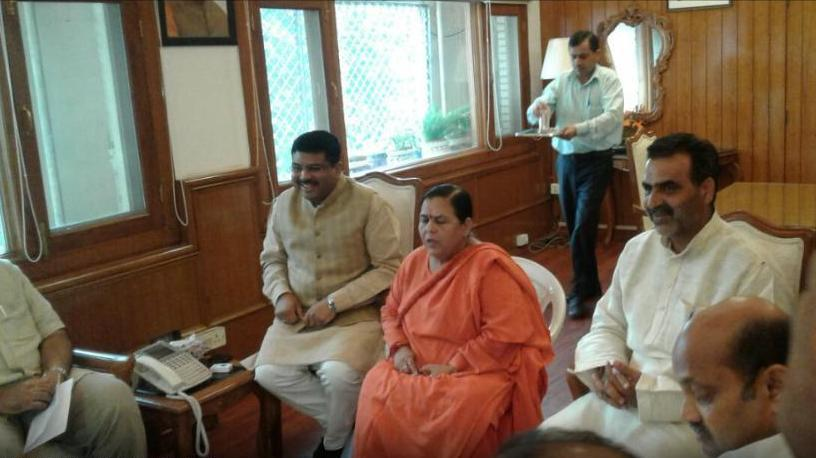 Mahanadi row, Uma Bharati meeting