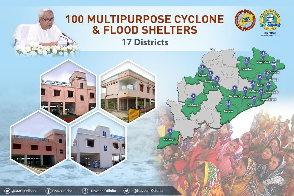Multi purpose flood and cyclone centres Odisha