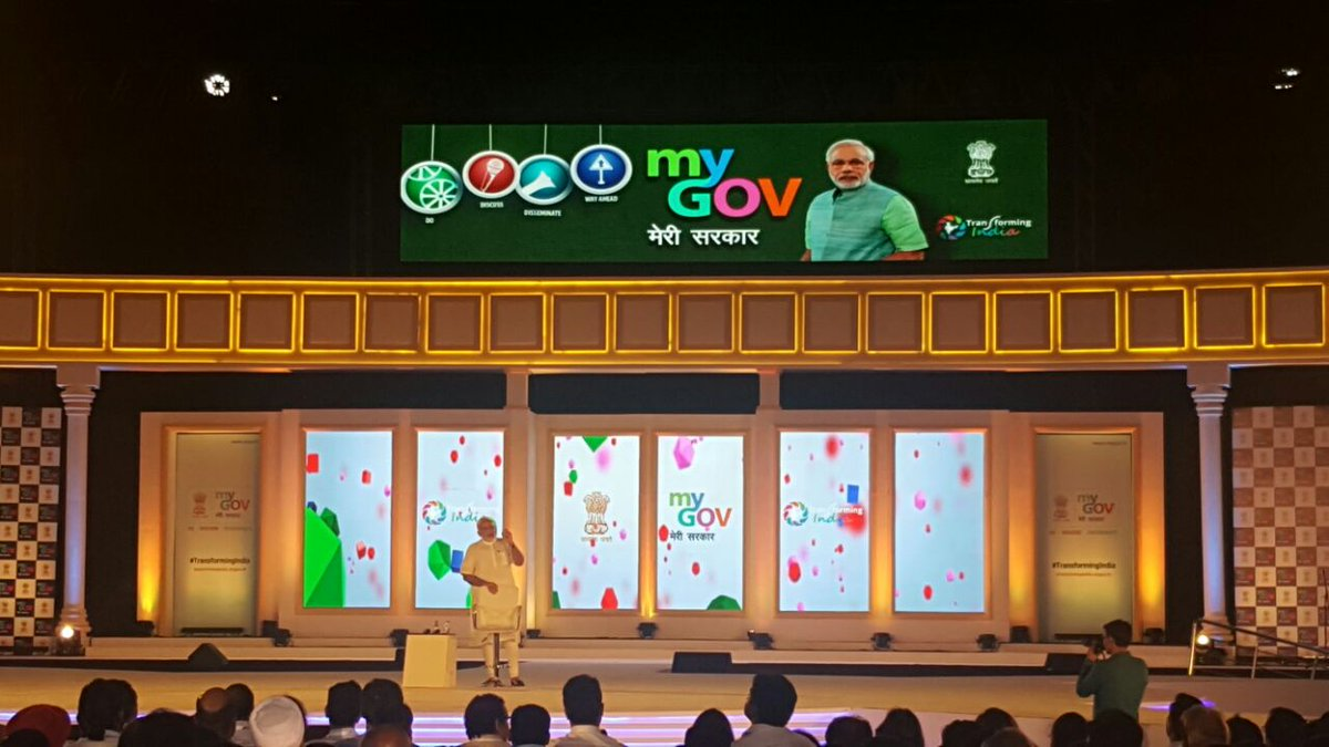 PM Modi Interacts With Citizens At His First Obama-Style Townhall