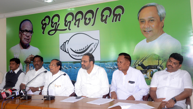 BJD press meet on Polavaram project.