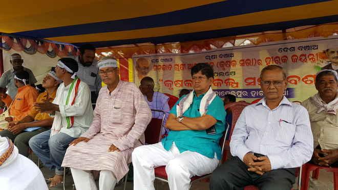 Navnirman Krushak Sangathan NKS rally jajpur