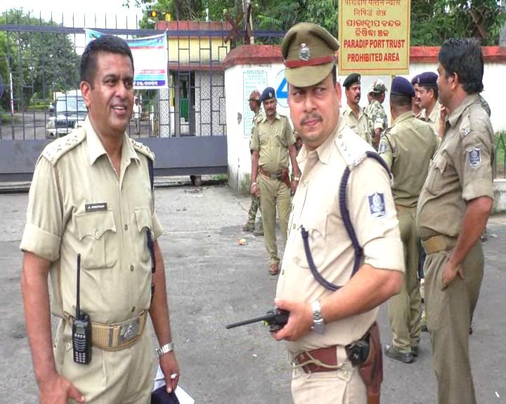 Police patrolling check Paradip sec 144