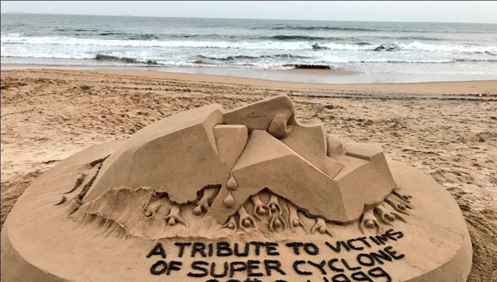 Sudarsan Pattnaik pays tribute to 1999 Odisha super ...