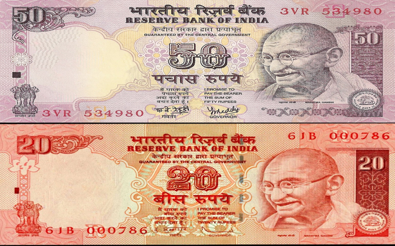 50-and-20-rupees-note
