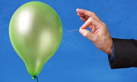 Bursting a balloon