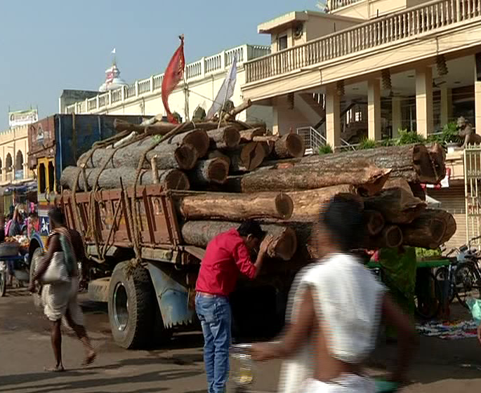 wooden logs for rath yatra