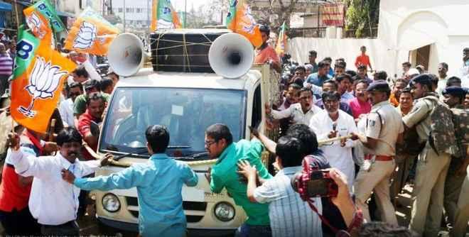 BJP gheraoes Odisha DGP office