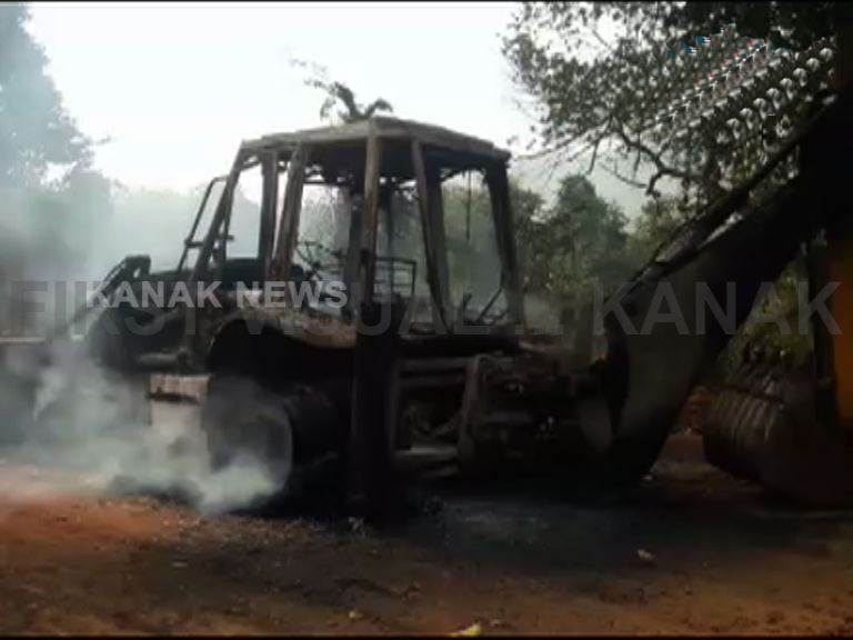 Contractor camp torched