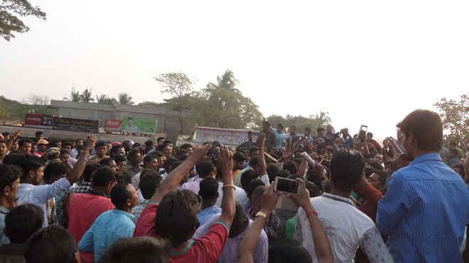 Rajnagar police molestation of minor