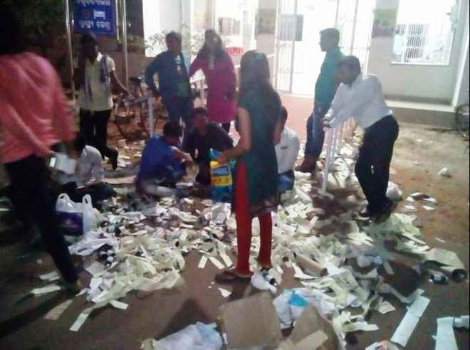 Vani Vihar health centre ransack