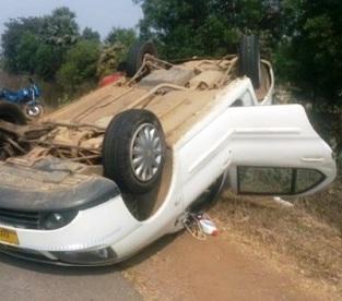 car overturns