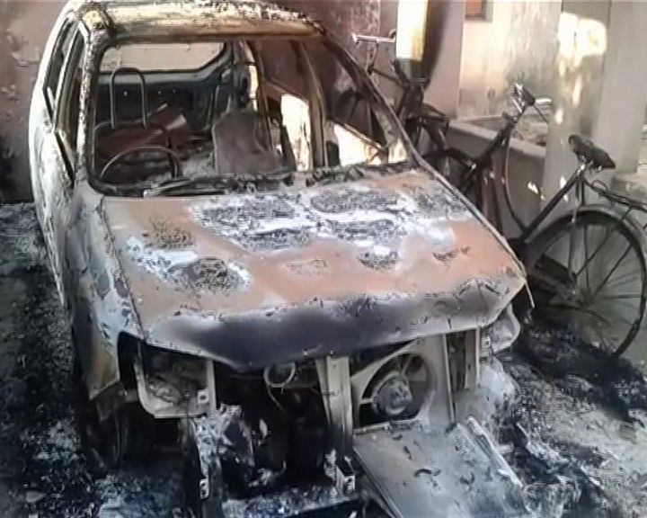 car torched