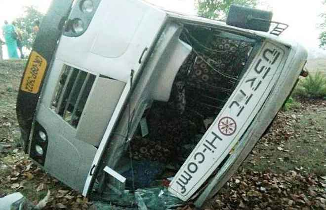 bus accident angul
