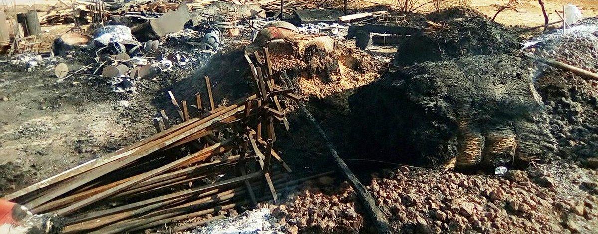 padmavati set torched