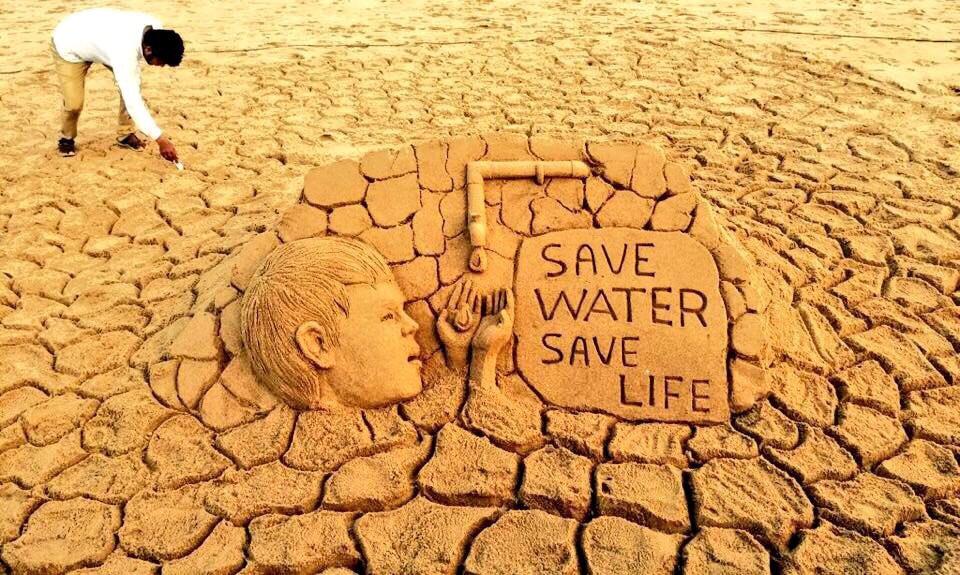 sudarsan-sand-art-world-water-day