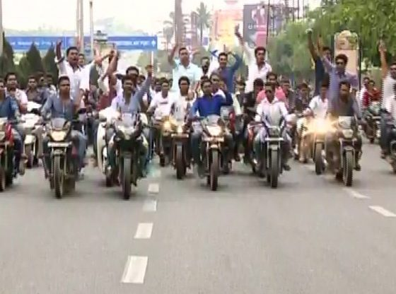 BJD rally to protest reduction of kerosene quota to state