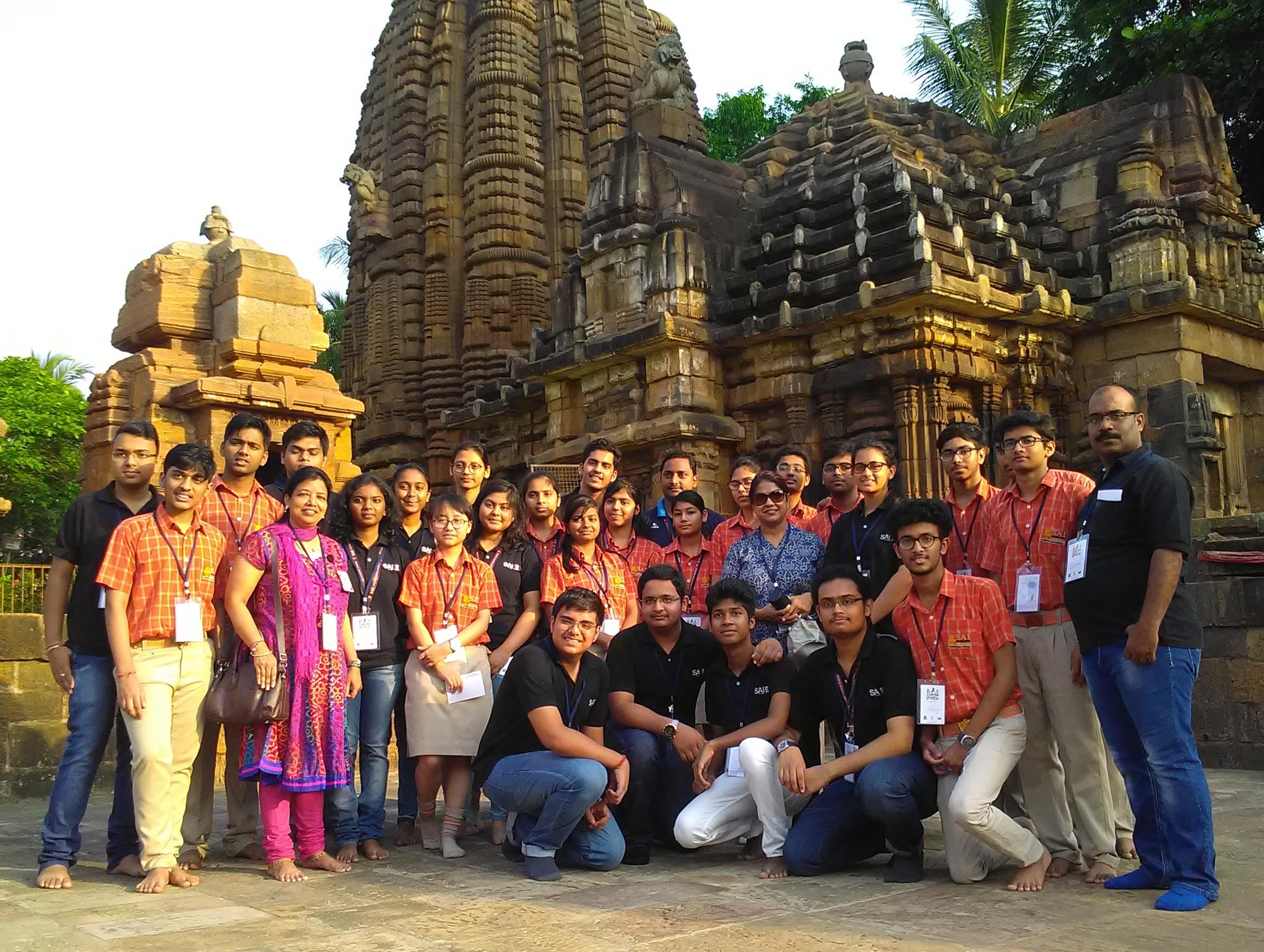 SAI International students near Mukteswar Temple